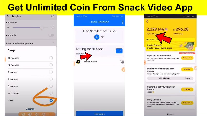How To get Unlimited Coin From Snack Video